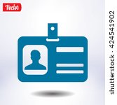 identification card icon. flat... | Shutterstock .eps vector #424541902
