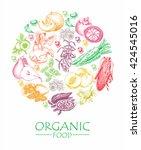 organic food. set of vegetables ...   Shutterstock .eps vector #424545016