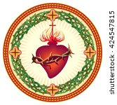 sacred heart of jesus | Shutterstock .eps vector #424547815