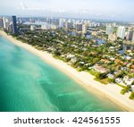 miami beach aerial view  florida | Shutterstock . vector #424561555