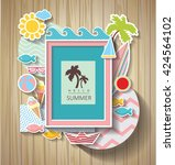 summer scrapbook. holidays... | Shutterstock .eps vector #424564102