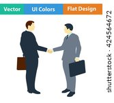 flat design icon of meeting...