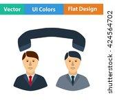 flat design icon of telephone...
