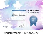 certificate of appreciation ... | Shutterstock .eps vector #424566022
