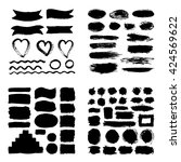mega collection of hand drawn... | Shutterstock .eps vector #424569622