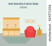 home interior. interior design... | Shutterstock .eps vector #424571326