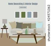 home interior. interior design... | Shutterstock .eps vector #424571362