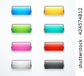 set of rectangle buttons | Shutterstock .eps vector #424574812