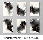 elegant brochure template... | Shutterstock .eps vector #424576336