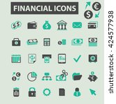 financial icons  | Shutterstock .eps vector #424577938