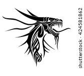 dragon. vector illustration... | Shutterstock .eps vector #424581862