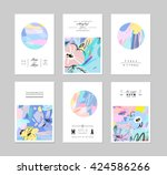 set of creative universal... | Shutterstock .eps vector #424586266