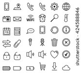 set of vector web icons mobile... | Shutterstock .eps vector #424588846