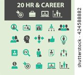 human resources  career icons  | Shutterstock .eps vector #424588882