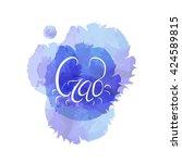 lettering crab  handwritten ... | Shutterstock .eps vector #424589815