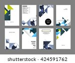 abstract background. geometric... | Shutterstock .eps vector #424591762