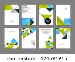 abstract background. geometric... | Shutterstock .eps vector #424591915