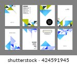 abstract background. geometric... | Shutterstock .eps vector #424591945