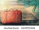 concept of summer traveling... | Shutterstock . vector #424592446