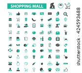shopping mall icons  | Shutterstock .eps vector #424593688