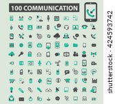 communication icons  | Shutterstock .eps vector #424593742