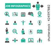 job infographics icons  | Shutterstock .eps vector #424597882