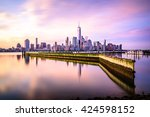 beautiful sunrise view of... | Shutterstock . vector #424598152