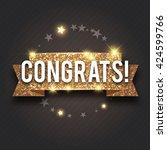 congrats. congratulations gold... | Shutterstock .eps vector #424599766