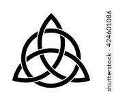 celtic trinity knot . vector... | Shutterstock .eps vector #424601086
