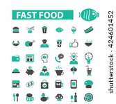 fast food icons  | Shutterstock .eps vector #424601452