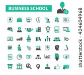 business school icons  | Shutterstock .eps vector #424604968