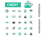 credit icons  | Shutterstock .eps vector #424605016