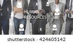 human resources business...   Shutterstock . vector #424605142