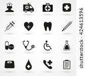 medical icon set isolated on...