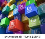 essential chemical minerals and ... | Shutterstock . vector #424616548