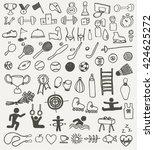 sport icons | Shutterstock .eps vector #424625272