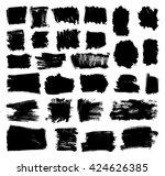set of grunge vector textured... | Shutterstock .eps vector #424626385