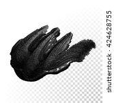 vector black paint smear stroke ...   Shutterstock .eps vector #424628755