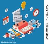 editor  journalist  copywriter... | Shutterstock .eps vector #424635292