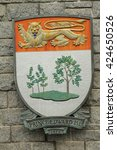 Small photo of VICTORIA ,BC,CANADA, MAY 21 2016: Coat of arms of Prince Edward Island is one of the three Maritime Provinces and is the smallest province in both land area and population