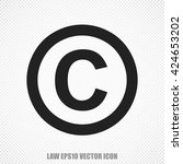 the universal vector icon on... | Shutterstock .eps vector #424653202