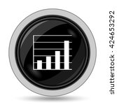 chart bars icon. internet... | Shutterstock . vector #424653292