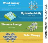 renewable energy or eco energy... | Shutterstock .eps vector #424654966