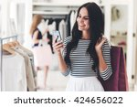 technologies make shopping... | Shutterstock . vector #424656022
