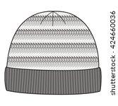 man winter knitted cap. knit... | Shutterstock .eps vector #424660036