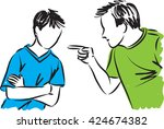 father and son parents... | Shutterstock .eps vector #424674382