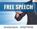Free Speech Word Business Man...