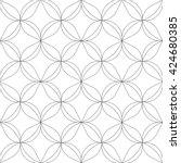 monochrome geometric seamless... | Shutterstock .eps vector #424680385