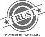 trust pencil strokes emblem | Shutterstock .eps vector #424692352