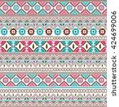 native american ethnic seamless ... | Shutterstock .eps vector #424699006